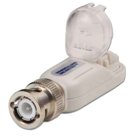 CCTV Video Balun CAT5e/6 Extender, 1 x BNC to 2 Pin Connector, 2 Pack