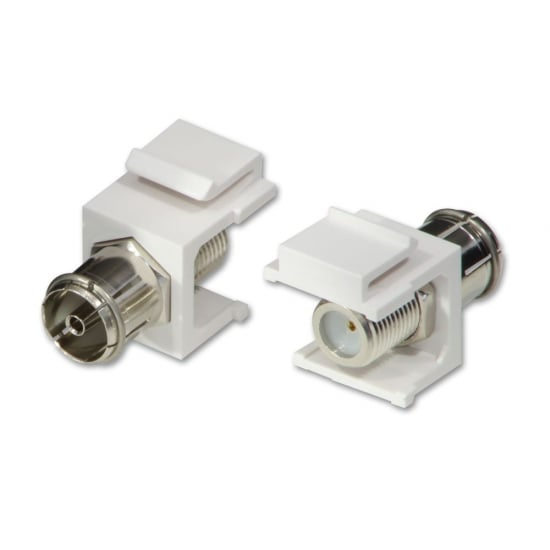 Coax to F-Type Keystone, Pack of 2