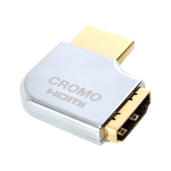 CROMO HDMI Male to HDMI Female 90 Degree Right Angle Adapter - Right