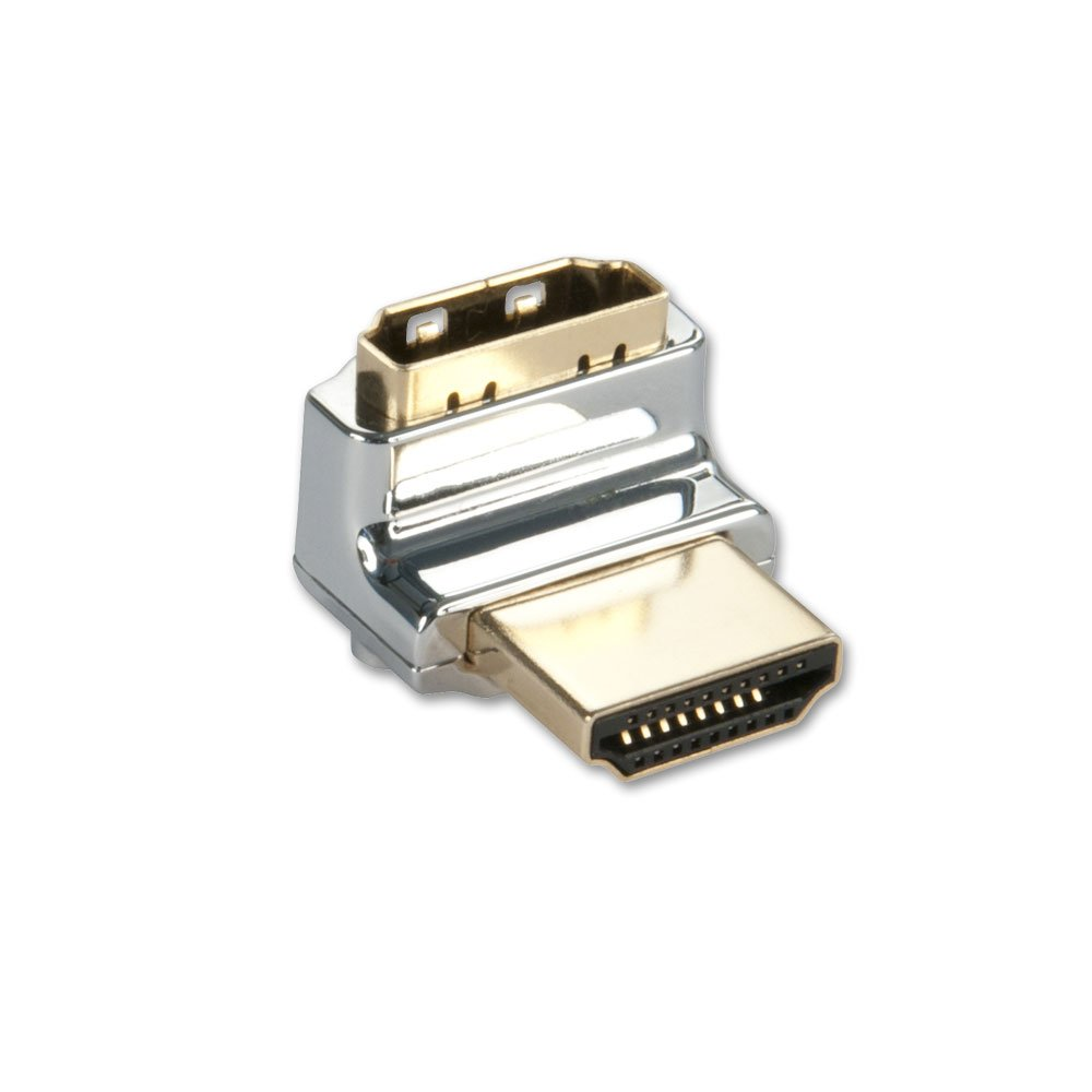 CROMO HDMI Male to HDMI Female 90 Degree Right Angle Adapter - Up. ‹