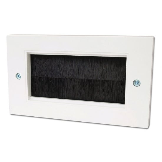 Double Gang Brush Faceplate, Black