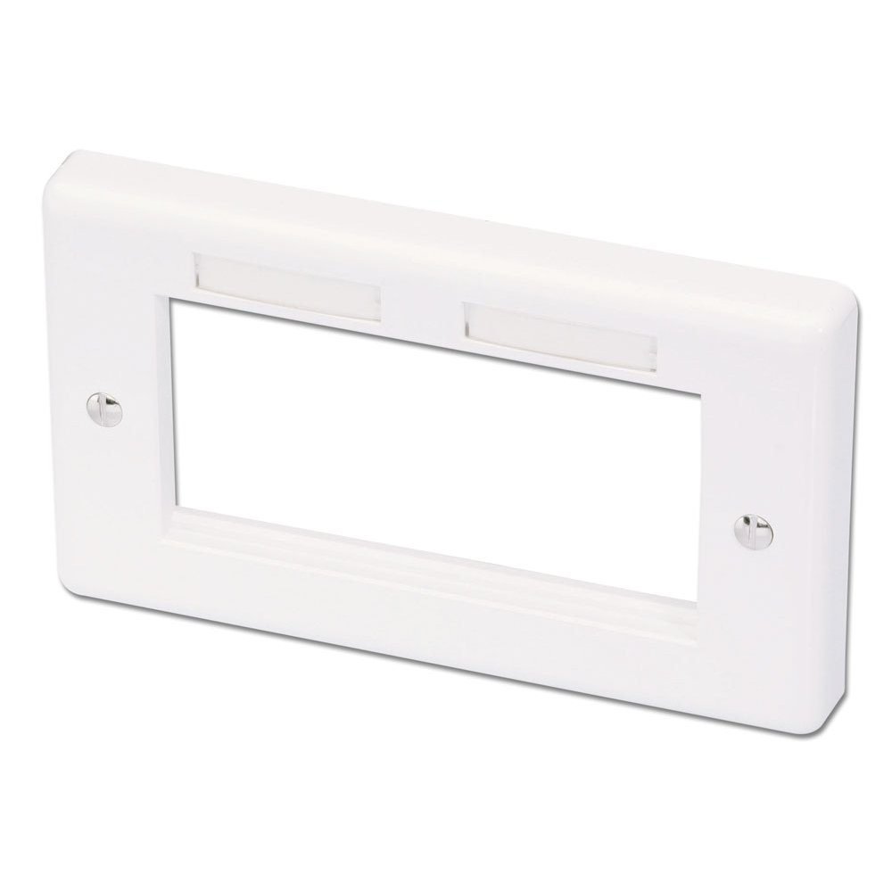 Av Wall Plates From Lindy Uk Wiring Double Gang Snap In Face Plate 4 Module