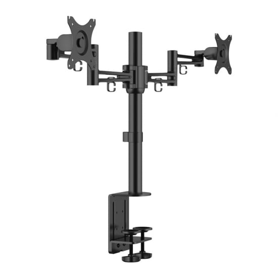Double LCD Monitor Arm With Pole And Desk Clamp