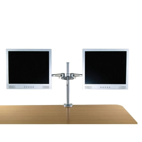 Dual Adjustable LCD Arms, Silver