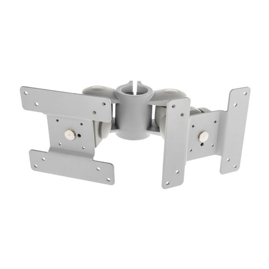 Dual Back to Back Short Bracket, Silver