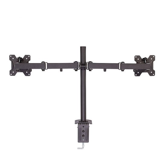 Dual Display Bracket with Pole and Desk Clamp