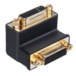 DVI-I Female to DVI-I Female 90° Adapter Down