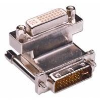 DVI-I Female to DVI-I Male 90° Adapter