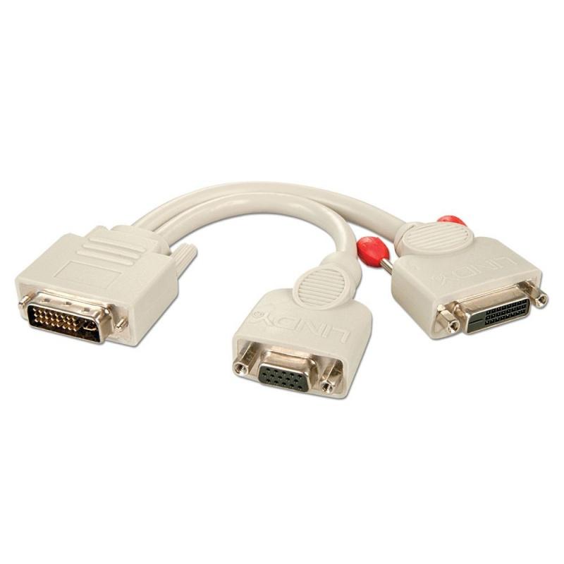 Dvi I Male To Dvi D Female Vga Female Splitter Cable
