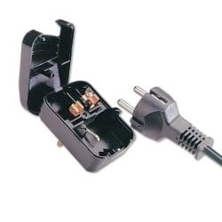 Earthed Schuko to UK Adapter Plug, Black