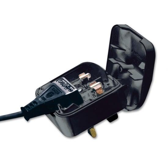 Euro to UK Adapter Plug Black