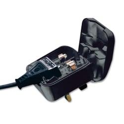 Euro to UK Adapter Plug, Black