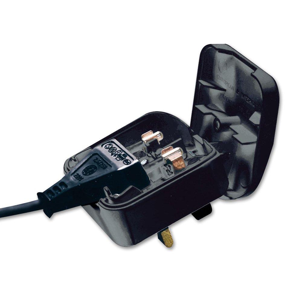 Uk Power Plug : Euro to uk adapter plug black from lindy