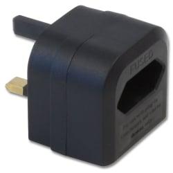 Euro Transformer to UK Adapter Plug, Black