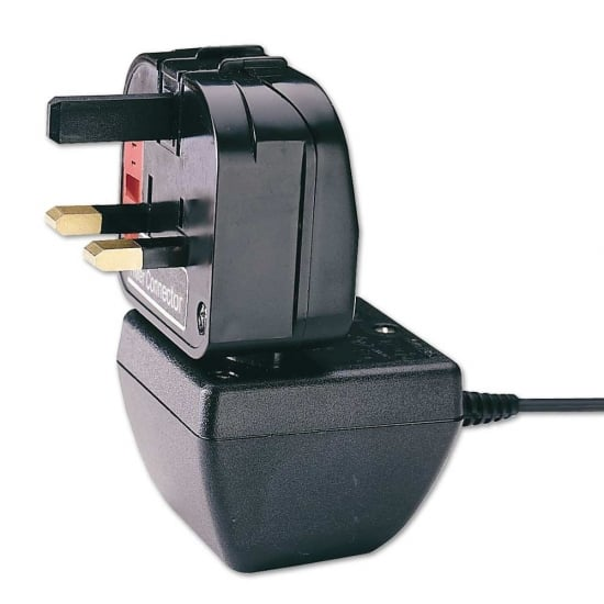 Euro Transformer to UK Adapter Plug, Black