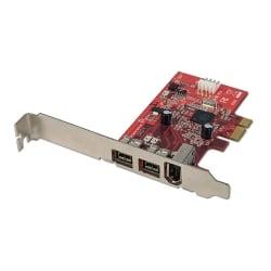 FireWire 800 Card - 3 Port (2 x FireWire 800, 1 x FireWire 400), PCIe