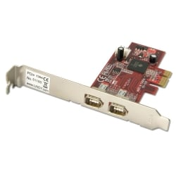 FireWire Card with TI Chipset- 2 Port, PCIe