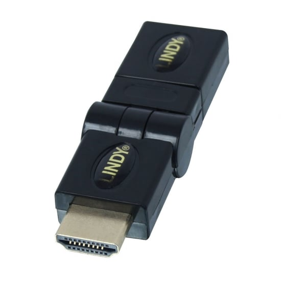 HDMI 360 Degree Adapter, HDMI Male to Female