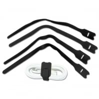 Hook and Loop Cable Tie, Black, 30cm