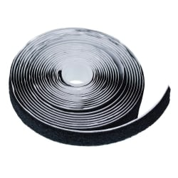 Hook And Loop Self Adhesive Tape, Black, 20mm x 5m