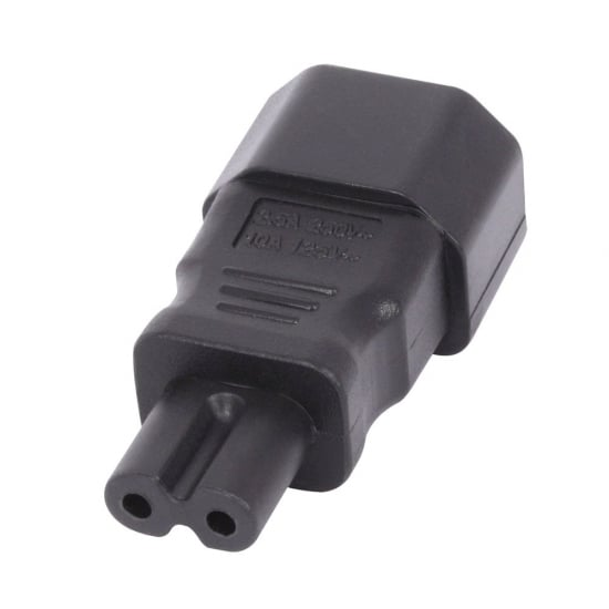 IEC C14 3 Pin Socket To IEC C7 Figure 8 Plug Adapter