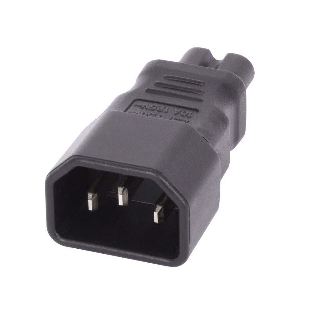 Iec C Pin Socket To Iec C Figure Plug Adapter P Zoom on Iphone Charging Cable