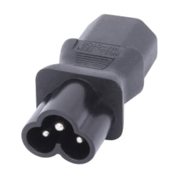 IEC C6 Cloverleaf Socket To IEC C13 3 Pin Plug Adapter