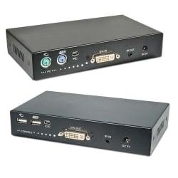 1km Fibre Optic USB & DVI-D KVM Extender