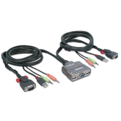 KVM Switch Compact USB Audio, 2 Port