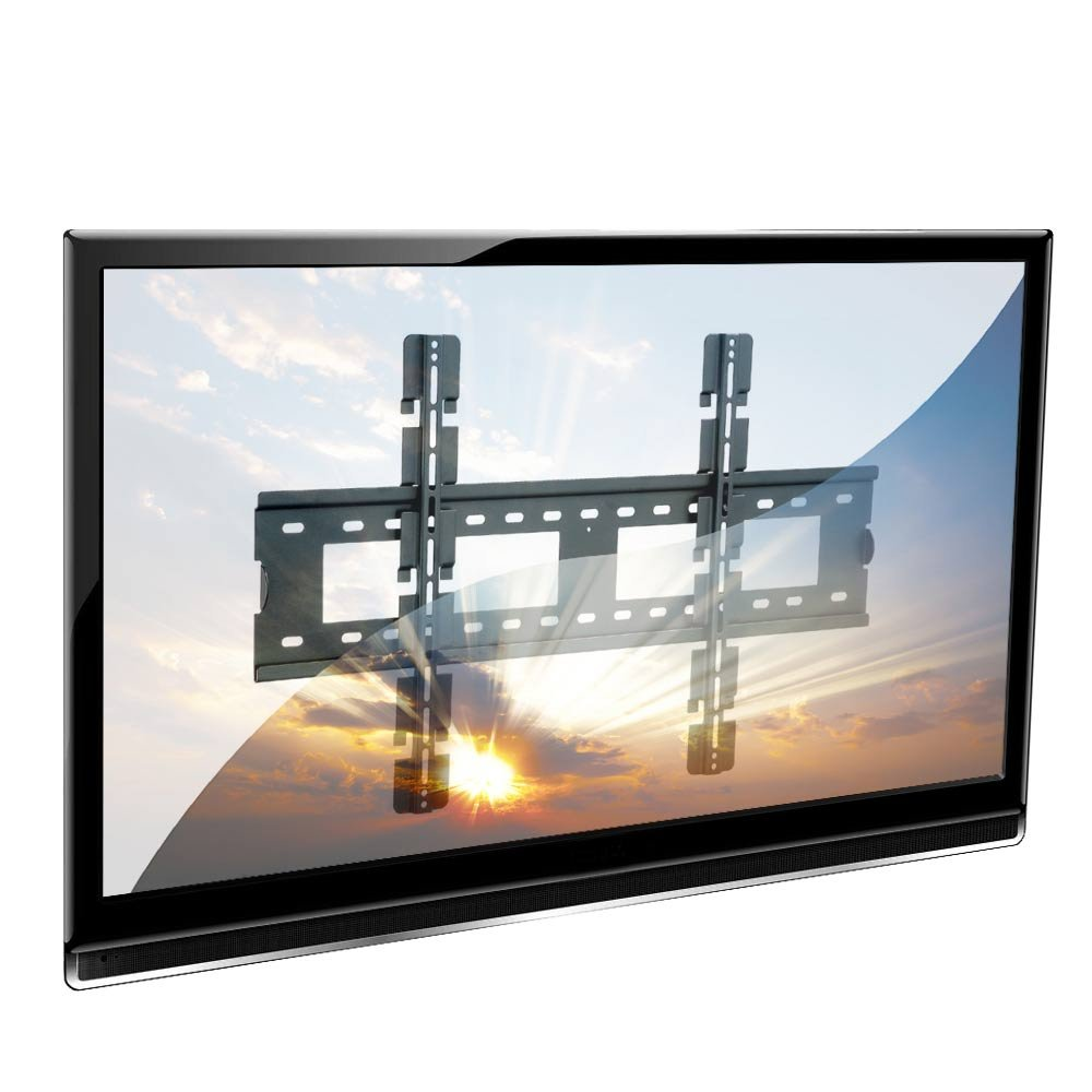 lcd led plasma tv wall bracket mount for up to 60kg 50 screens black from lindy uk. Black Bedroom Furniture Sets. Home Design Ideas