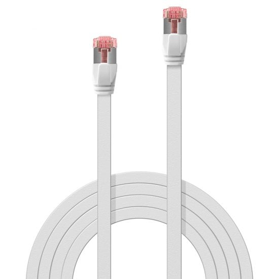 10m Cat.6 U/FTP Flat Network Cable, White