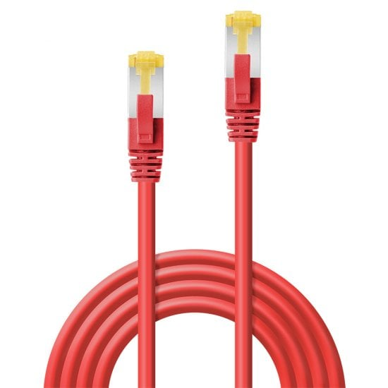2m RJ45 S/FTP LSZH Network Cable, Red