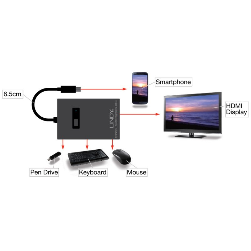 MHL Docking Station with USB OTG for Samsung Galaxy S3, S4, Note 2 ...