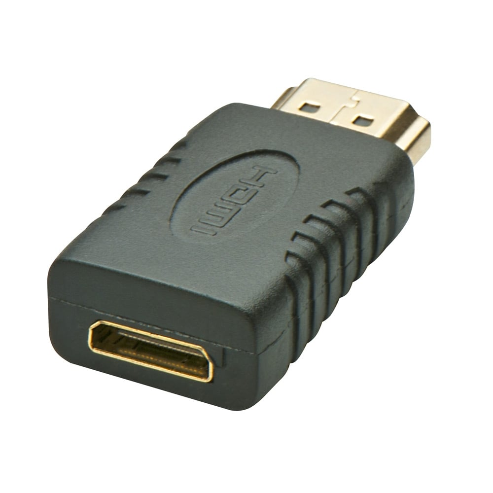 mini hdmi female to hdmi male adapter from lindy uk. Black Bedroom Furniture Sets. Home Design Ideas