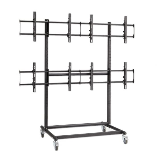Mobile Plasma, LED and LCD 2x2 Trolley Stand for Video Wall