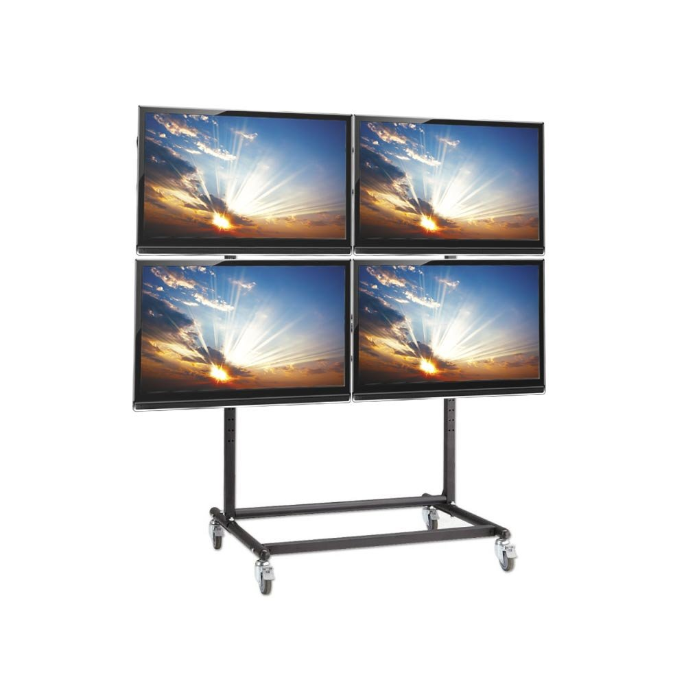 Mobile Plasma Led And Lcd 2x2 Trolley Stand For Video