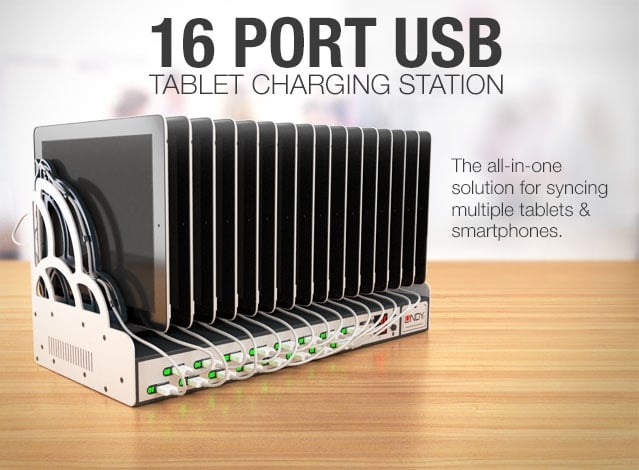 16 Port Tablet Charging Station