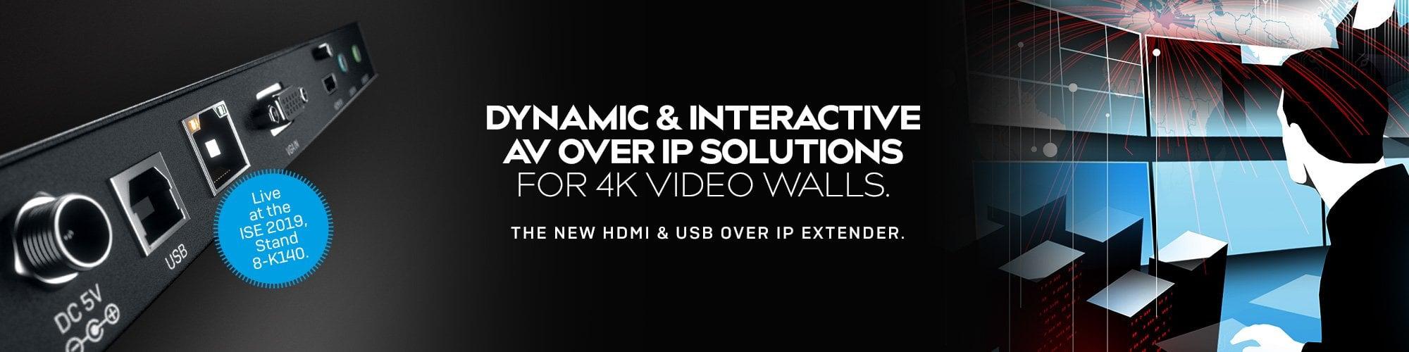 4K HDMI & USB OVER IP EXTENDER
