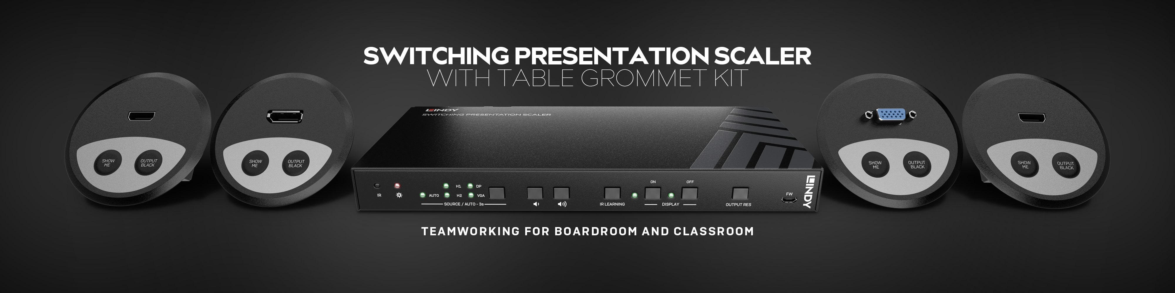 Switching Presentation Scaler with Grommet Kit