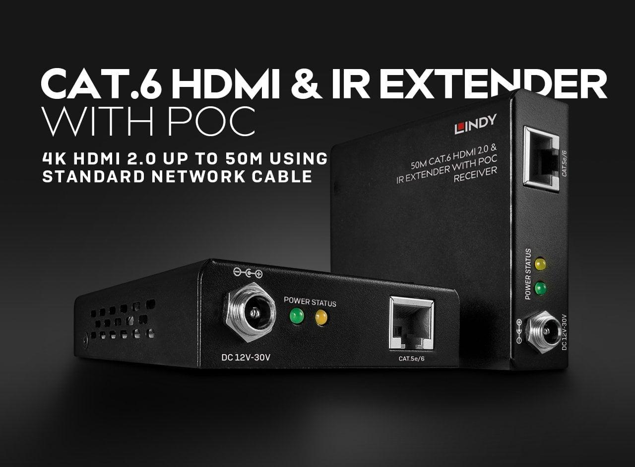 Cat.6 HDMI 2.0 18G & IR Extender