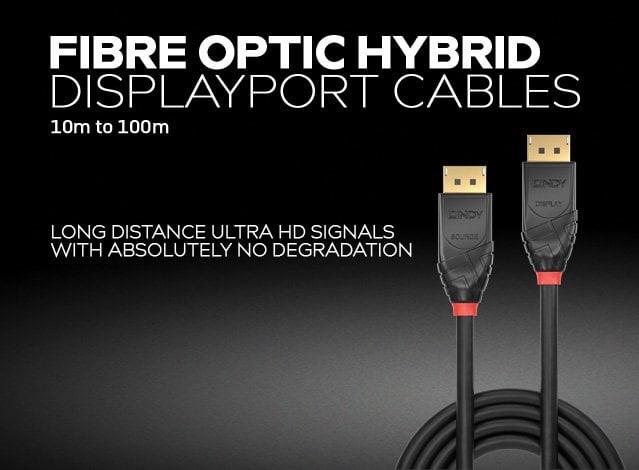 Fibre Optic Hybrid DisplayPort Cables