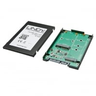 "mSATA & M.2 SSD to 2.5"" SATA Drive Enclosure, Black"