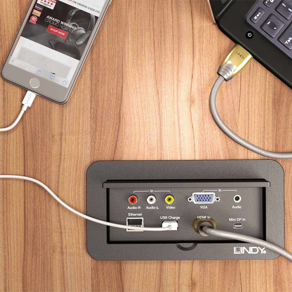 Port Multi AV To HDMI Conference Table Switch From LINDY UK - Av table box