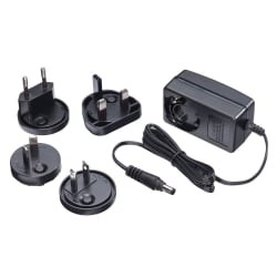 Multi Country Switching AC Adapter - 5V DC, 2.6A, 2.1mm Inner / 5.5mm Outer DC Jack