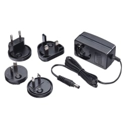 Multi Country Switching AC Adapter - 5V DC, 2.6A, 5.5mm Outer / 2.1mm Inner DC Jack, Level VI