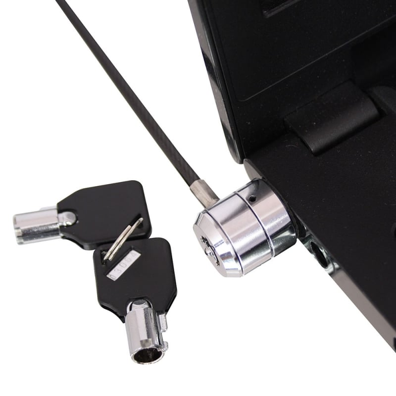 Notebook Security Cable, Barrel Key Lock