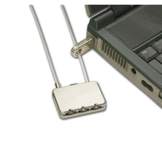 Notebook Security Cable, Combination Lock