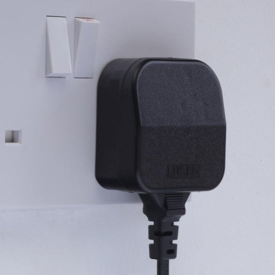 Permanent Euro to UK Adapter Plug, Black
