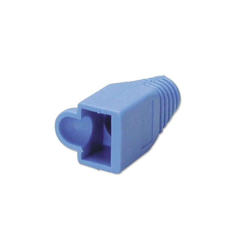 Pre-assembly RJ-45 Strain Relief Boot, Blue (10 per pack)