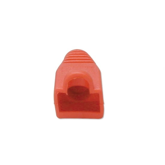 Pre-assembly RJ-45 Strain Relief Boot, Red (10 per pack)